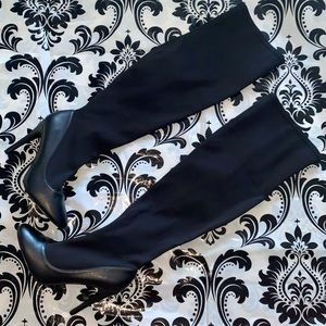 """Thigh High """"Neo"""" Black Boots Size 10"""
